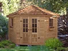 How To Build A Timber Frame Shed Storage Shed Kits, Wood Storage Sheds, Outdoor Storage Sheds, Wood Shed, Outdoor Sheds, Outdoor Spaces, Rustic Outdoor, Penthouse Garden, Cedar Garden