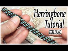Tutorial tubolare Herringone - Spirale con perline - Come fare una spirale Herringbone - YouTube
