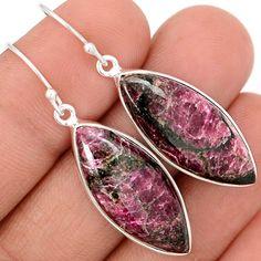 Eudialyte 925 Sterling Silver Earrings Jewelry EDLE67 - JJDesignerJewelry