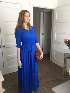 Find this look @Glamhive #maxidress #handbag #shoulderbag #bag #accessories #fashion #brownbag #accessories #style #stylist #OOTD #outfitoftheday #outfit #pinoftheday #bluedress #fashionstylist #personalstylist #personalshopper #womensfashion #fashionblogger #womensfashionblogger #mystylespot  where you get rewarded for shopping! http://www.glamhive.com/look/587935b7e4b0b491657fb885