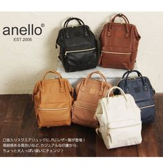 Ships from Malaysia. Anello Backpack Outfit, Fashion Handbags, Fashion Bags, Anello Bag, Japan Bag, Designer Backpacks, Leather Backpack, Kanken Backpack, Leather Bags