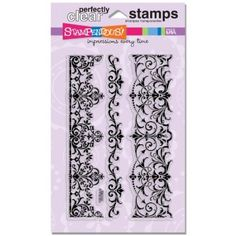 Amazon.com: Stampendous Perfectly Clear Stamp Set, Elegant Borders Image: Arts, Crafts & Sewing