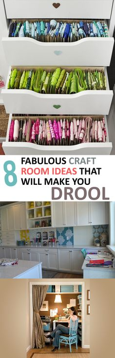 We all want a more organized and welcoming craft room right? Well these ideas will help us get started!