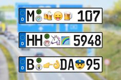 Verkehrsministerium lässt Emojis auf Autokennzeichen zu