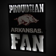 "Arkansas Razorbacks 12"" x 15"" LED Metal Wall Decor"