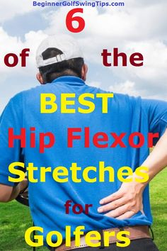 Prevent lower back pain! Learn the 6 best hip flexor stretches to do BEFORE you play your next round of golf in order to PREVENT lower back pain. The best stretching exercises for golfers to prevent lower back pain. #Golf #Stretching #Exercises