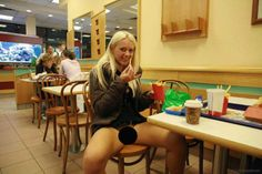 Nothing says classy like taking your date to McDonald's for some nuggets and beaver shots #lol #wtf #funny #flasher