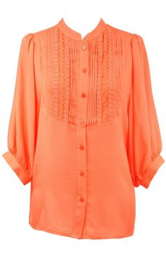Jade 8684ORG is a gorgeous orange peasant top that has quickly become a customer favorite for us! Paired with leopard flats and skinny jeans, this look just radiates fashionista!-- Tennessee Vols gameday shirt!!!