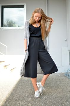 COOLotte - How to style the pants in autumn - Culotte - style - fashion - black - blogger - vintage life en vogue