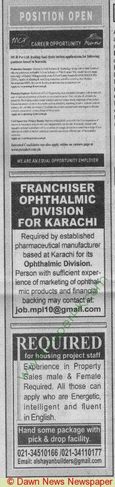Disaster Management Department Lahore Jobs Dawn Newspaper 21