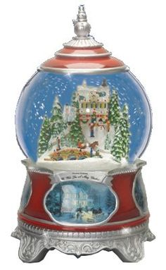 Amazon.com: Thomas Kinkade Wish You A Merry Christmas Snow Globe: Furniture & Decor