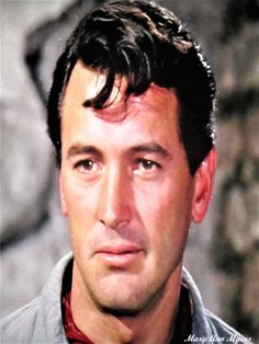 Rock Hudson In The Movie The Last Sunset =1961