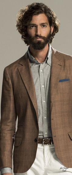 Brunello Cucinelli Spring 2016 | Men's Fashion | Menswear | Men's Sport Jacket | Smart Casual | Moda Masculina | Shop at designerclothingfans.com