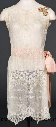 Les Soeurs Boué - Robe de Soirée - Ceinture Satin - Gros Noeud - 1924 - 1925