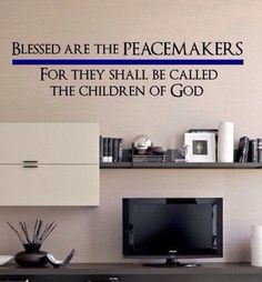 Blessed Are The Peacemakers For They Shall Be Called The Children of God Quote Vinyl Wall Art Police Law Enforcement Thin Blue Line by AdoreDesignCo on Etsy https://www.etsy.com/listing/223060864/blessed-are-the-peacemakers-for-they