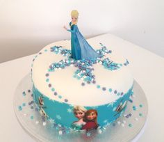 simple first birthday party Frozen Themed Birthday Cake, Happy Birthday, Cake Decorating For Kids, Gravity Cake, Geode Cake, Number Cakes, Just Cakes, Frozen Cake, Party Cakes