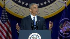 President Obama delivers farewell address to the country.