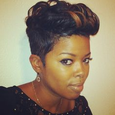 Groovy Soft Curls On Short Tapered Haircut Hair Amp Stuff Pinterest Short Hairstyles Gunalazisus