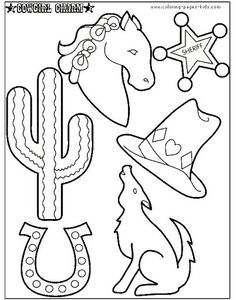 kindergarten printable hat templates | cowboy hat nametags sheet ... - Cowboy Cowgirl Coloring Pages