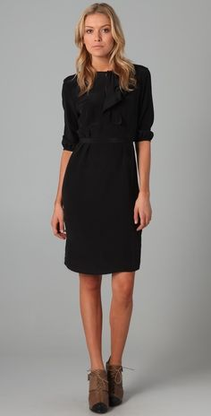 Tucker Side Ruffle Dress thestylecure.com