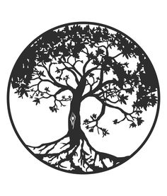 1200mm x 1200mm x 2mm Powder Coated Mild Steel or COR-TEN® Tree of Life Sign.