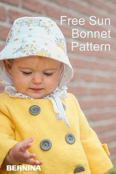 Becca of the Simple Life Pattern Company team is so excited to share the Daisy's Sun Bonnet pattern with you. It's a perfect sun bonnet to protect your littles from the sun and can easily transition into every season. Sewing Baby Clothes, Baby Clothes Patterns, Hat Patterns To Sew, Sewing Patterns Free, Baby Hat Knitting Patterns Free, Free Baby Patterns, Pattern Sewing, Baby Sewing Projects, Sewing For Kids