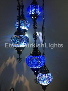 TURKISH MOSAIC LAMP, CHANDELIER IN 5 GLOBES Dimensions: 47 inches in height and 10 inches wide Globe Sizes: inches weight: 7 pound it does not come with the bulb. it requires bulb, led bulb is recomended. Turkish Lanterns, Turkish Lights, Turkish Lamps, Turkish Decor, Turkish Design, Moroccan Lighting, Moroccan Lamp, Mosaic Wall, Mosaic Glass