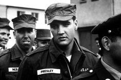 Elvis in the Army, 1958.