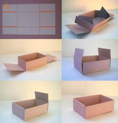 Делаем коробку без клея