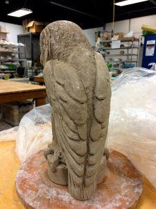 Adventures into Making Large Owls! Ceramic Owl, Ceramic Animals, Ceramic Clay, Ceramic Pottery, Pottery Art, Pottery Sculpture, Sculpture Clay, Ceramica Artistica Ideas, Clay Owl