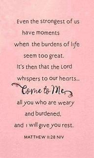 Scripture, Burdens