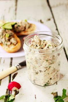 This smoked mackerel pâté is bursting with contrasting flavours of earthy smoked fish, fresh, clean parsley & lemon & a tang of chopped gherkin. Pate Recipes, Fish Recipes, Seafood Recipes, Cooking Recipes, Healthy Recipes, Quark Recipes, Savoury Recipes, Copycat Recipes, Cooking Ideas