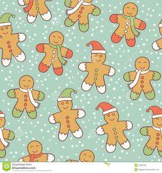 gingerbread-men-pattern-28050795.jpg (1300×1390)