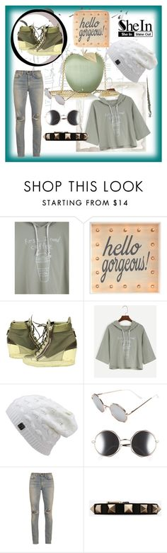 """""""Untitled #57"""" by lmoidie ❤ liked on Polyvore featuring Giuseppe Zanotti, Anya Hindmarch, A.J. Morgan, Yves Saint Laurent and Valentino"""