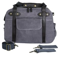 Waxed Charcoal Charlie Diaper Bag (Limited Edition) - PRE-SALE - Ships by March 15, 2015