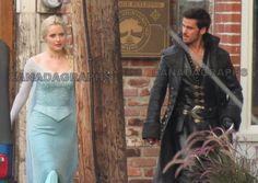 Georgina Haig and Colin O'Donoghue as Elsa and Hook (August 12 2014)