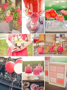 watermelon wedding inspiration summer spring wedding colors and Summer, Styles, and Reception, Colors, Wedding Colors Spring Wedding Decorations, Spring Wedding Colors, Reception Decorations, Wedding Themes, Wedding Ideas, Wedding Styles, Summer Color Palettes, Spring Color Palette, Spring Colors