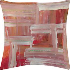 Red and Pink Oil Paint Velvet Decorative Pillow Cover | LightInTheBox