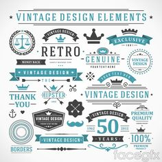 17 vintage product sale tag vector
