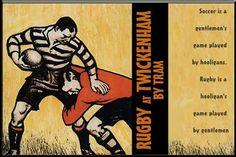 Vintage rugby sign