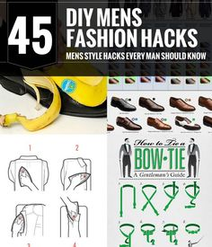 Mens Fashion Hacks! Style tips and tricks every man should know. #mens #fashion #tips