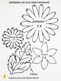 DIY Tuts and Ideas: Gerbera Daisy Picture TutorialA gyűjtemény a mini workshop. Diy Crafts Paper Flowers, Giant Paper Flowers, Flower Crafts, Fabric Flowers, Paper Butterflies, Leaf Template, Flower Template, Owl Templates, Crown Template