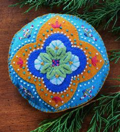 Anita's Little Stitches: New Wool Felt Patterns, $6. Kits seem to be sold out.