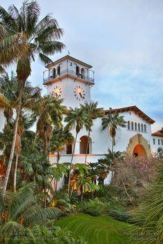 Courthouse Clocktower from the Garden Balcony, Santa Barbara, California  http://www.pinterest.com/pin/250864641715997117/