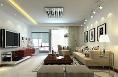 Traumhafte Wohnzimmer Beleuchtung mit einem Kronleuchter mit ...
