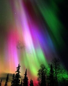 Aurora borelis over Finland-awesome colors!