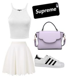 A fashion look from March 2018 featuring white tank top, white skirt and adidas. Browse and shop related looks. White Skirts, White Tank, Alexander Mcqueen, Fashion Looks, Urban, Adidas, Tank Tops, Polyvore, Shopping