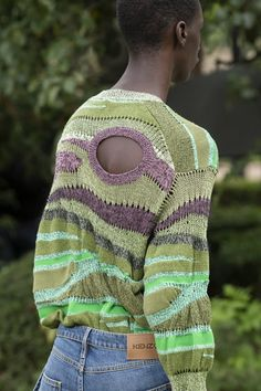 Paris Fashion, Men Fashion, String Theory, Kenzo, Men Sweater, Knitting, Spring, Sweaters, How To Wear