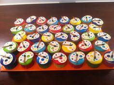 Artist themed cupcakes