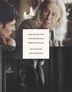 I never expected such a blessing so late in life. / Merlin and Gaius / Merlin - BBC